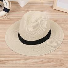 Summer Beach Women Hat Brim Ladies Sun Hat Casual Panama jazz Straw Hat Men Cap Sun Visor Cap Male Sombrero Chapeau Femme(China)
