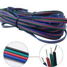 20m 4 pin RGB Led Connector 4 Wire electric Extension Cable Cord Lighting for rgb 3528 and 5050 led strip