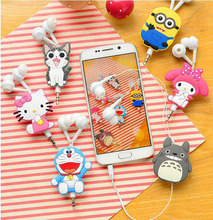 Good Gift 3.5mm Cartoon Earphone headphone headset earbuds retractable headphones For Samsung Xiaomi HTC MP3 MP4(China)