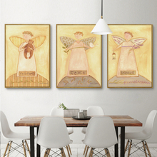 Peace Soothing Peaceful Three Angels Painters Painting A4 Art Print Posters Canvas Painting Mural Living Room Bedroom Home Decor(China)