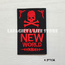 3pcs/lot SKULL DEATH ironing Patches for Jacket Bag Motorcycle HAT Appliques Garment Sew on patches Vest sticker(China)