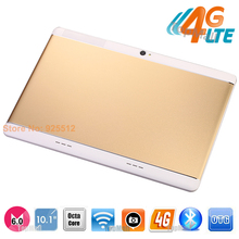 2017 Very New Metal Case 10 inch Octa Core Tablet 4G LTE 4GB RAM 32GB ROM 1920*1200 IPS HD Android 6.0 GPS Tablet Free Shipping