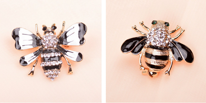 rhinestone bee brooches 4