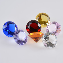3 CM Crystal Glass Faceted Diamond Jewel Paperweight Sparkle feng shui Wedding favors and gifts Home table decoration supplies(China)