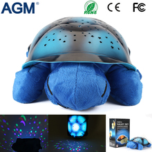 AGM Pure Harmless Material Tortoise Stars Projector Night Light Musical Turtle Lamp For Baby Room Kid's Gift Toys Bedroom