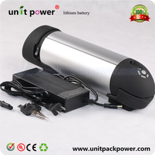 Good quality 36v bottle battery with controller box for electric bike battery 36v 9ah li-ion battery