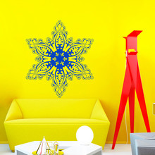 Merry Christmas Wall Decals Snowflake Decal New Year Vinyl Stickers Home Decor Bedroom Window Decals Living Room Art Murals A110