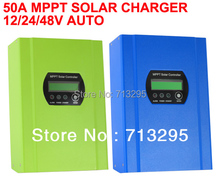High Conversion Efficiency 50A 12/24/48V Auto Switch MPPT Solar Charge Controller  Regulator  with CE/Rosh