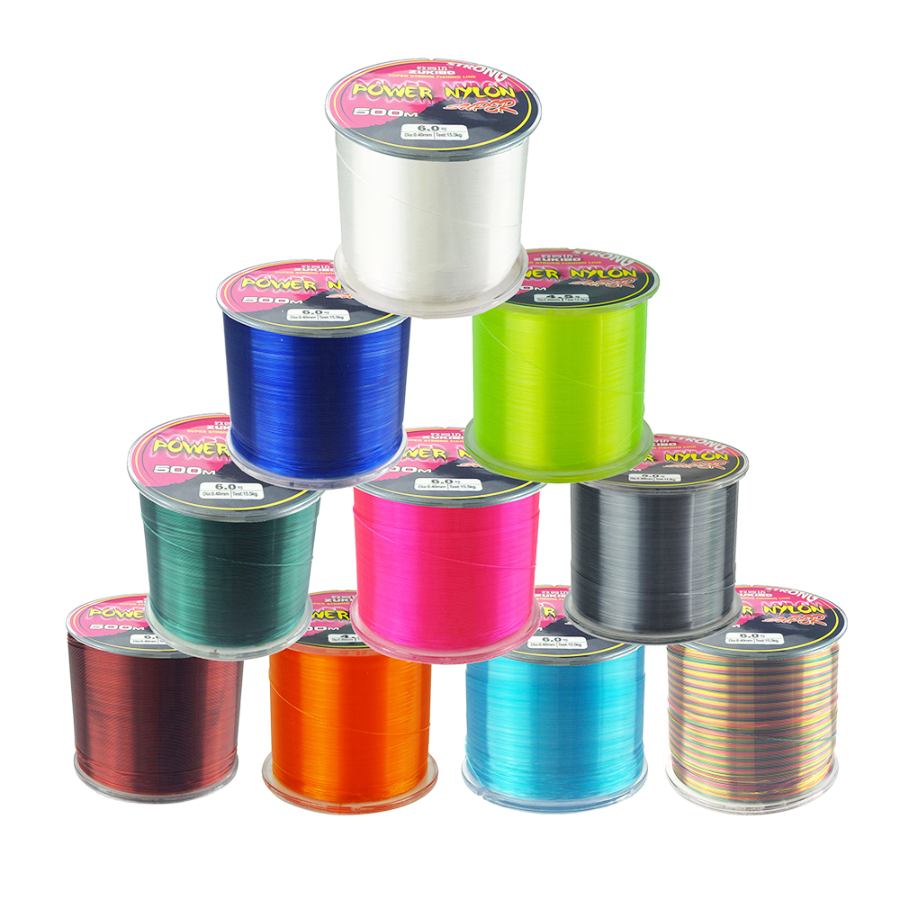 Hot sell 500M ZUKIBO Series Super Strong Monofilament Color Nylon Fishing Line good high quality 8LB 10LB 12LB 16LB 20LB 25LB(China)