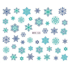 New Fashion Christmas Snowflake Halloween Nail Sticker Decal Water Transfer Sticker Nail Art Decals DIY Decor Temporary Tattoo