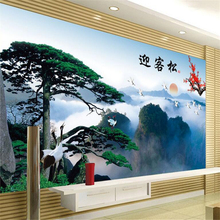 beibehang Large - scale custom wallpaper Chinese wind and water Ying - song design of the video wall wallpaper on the ceiling
