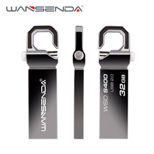 Wansenda Metal USB Flash Drives 128GB 64GB 32GB 16GB 8GB 4GB High Speed Pendrives USB 2.0 U stick Thumbdrive Flash USB Stick