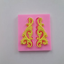 3D DIY European Style Relief Decorativing Lace Fondant Cake Chocolate Sugarcraft Embossed Mold Silicone Tools MF246