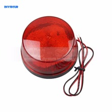 DIYSECUR 2pcs/lot 12V Security Alarm Strobe Signal Warning Siren Red LED Lamp Flashing Light(China)