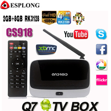 Q7 Android 4.4 TV Box CS918 Full HD 1080P RK3128 Quad Core Media Player 2GB/8GB XBMC KODI Wifi Bluetooth Smart TV Box
