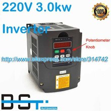 AC 4HP 3000 watt 3KW 220V VARIABLE FREQUENCY DRIVE INVERTER VFD for Spindle Motor Speed Control with Potentiometer Knob