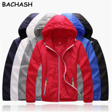 BACHASH S-7XL 2017 New Spring Autumn Plus Size Brand Men Women's Casual Jacket Hooded Fashion Windbreaker Zipper Coats Outerwear(China)