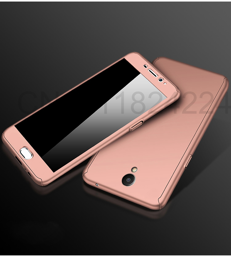 360 Full Case For Meizu Pro 7 Cases Hard PC Degree For Meizu  M6 Note M6 M5 Note  M6s Cover + Tempered Glass A16