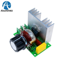 4000W SCR Electronic Voltage Regulator Speed Controller Control Board Governor Dimmer High Power Module AC 220V Resistive Load(China)