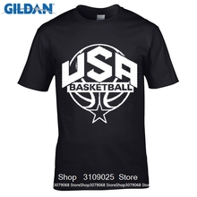 GILDAN DIY Style style mens t shirts  Print New Summer Style Cotton Usa Men's Basketballer 2016 Front Only Men's Tee Shirt 1445