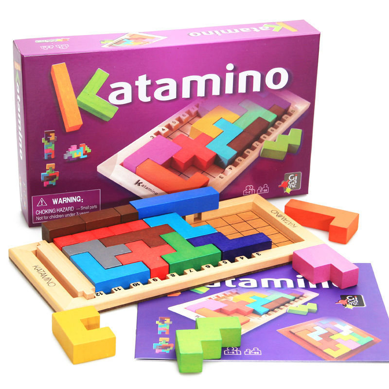 Free shipping Kids wooden educational building blocks toys, Katamino/assembling of intelligence building blocks, childrens toys<br>