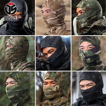 18 Style Tight Multicam Camouflage Balaclava Tactical Airsoft Paintball Bicycle Army Helmet Hats UV Protection Full Face Mask(China)