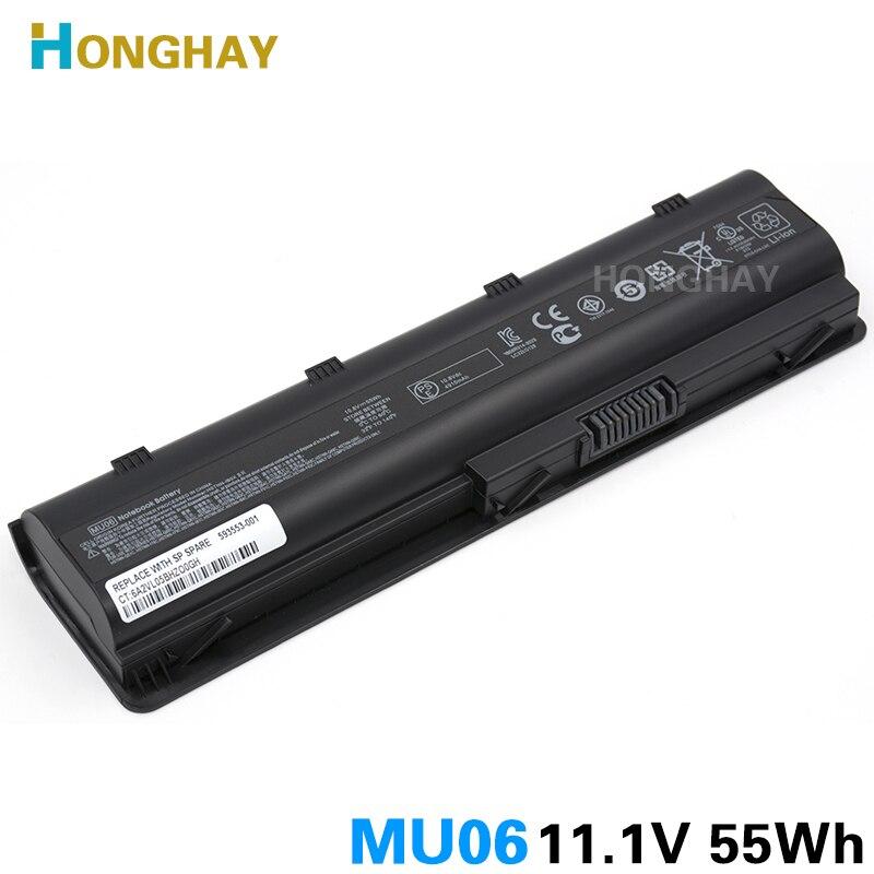 HONGHAY 55WH MU06 Laptop Battery for HP Pavilion G4 G6 G7 G32 G42 G56 G62 G72 CQ32 CQ42 CQ43 CQ62 CQ56 CQ72 DM4 MU09 593553-001<br>
