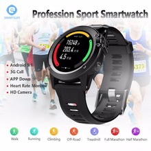 SMARTELIFE 3G Android Running Smart Watch With Camera Heart Rate GPS WIFI Altimeter Pressure Compass Wearable Devices Smartwatch(China)