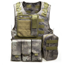 Outdoor Hunting Fishing Accessories Tactical Military Vest Multi Pockets Airsoft Molle Plate Carrier CS Training Vest