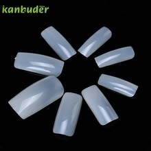 KANBUDER FeatheringWomen 100pcs Natural Feathering French False Nail Tips Artificial Fake Nails Art Acrylic Manicure Tools AP25
