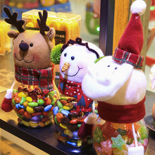 Christmas Candy Jar Santa Claus Snowman Elk New Year Gift Holder Xmas Desktop Window Ornaments Decoration Home Supply Hot Sale