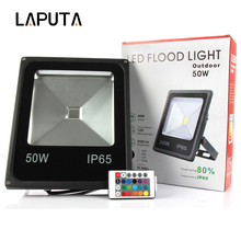 1pcs RGB Led Floodlight 10W 20W 30W 50W Led Reflector Lamp Waterproof Led Flood Light IP 65 Outdoor Lighting Led Lamp AC85-265V