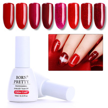 Buy BORN PRETTY 10ml Red Pink Glitter Sparkle Gel Polish DIY Design Bling Shining Soak Manicure Nail Art UV Gel Polish Winter for $1.09 in AliExpress store