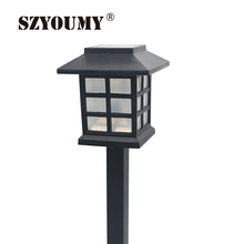 SZYOUMY Lantern Style Waterproof LED Solar Landscape Light Garden Lawn Yard Park Square Decoration