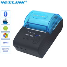 VOXLINK 58mm Wireless Bluetooth Receipt Thermal printer for IOS & Android PC Mini Pos Printer with EU/US/UK Plug