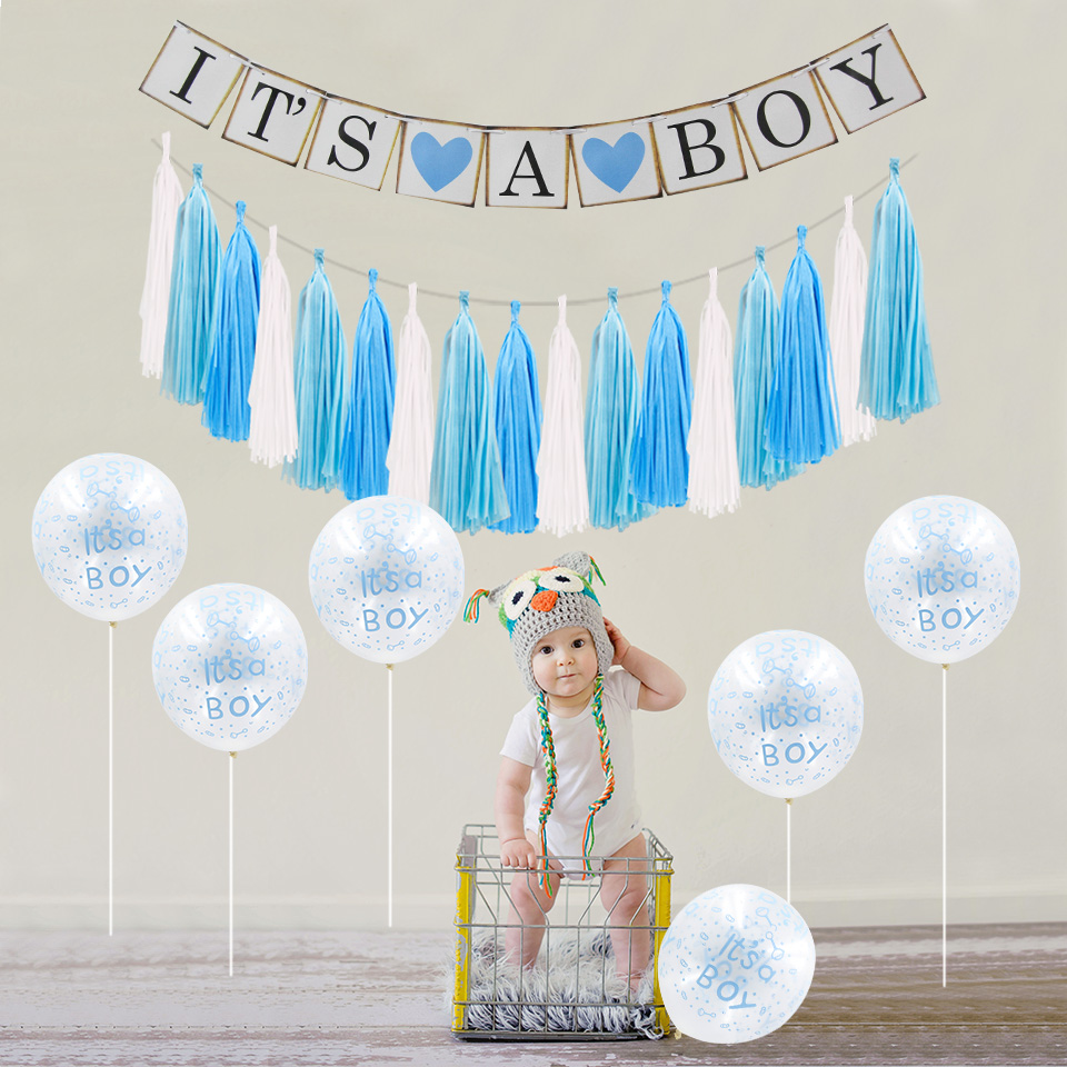 Event Party Holiday DIY Decorations Baby Shower Its A Boy Girl