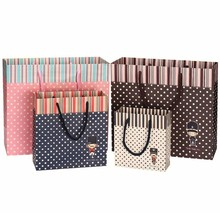 20 Pack Cute Dots Gift Paper Packaging Bag with Handle for Clothes Shoes Underwear Candy Chocolate in Party Wedding