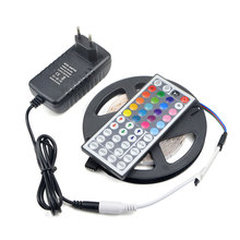 2835 SMD Not waterproof RGB LED Strip light String 300LEDs 5M lamp Tape lumen higher Than 3014 / 24 44key controller / 3A power