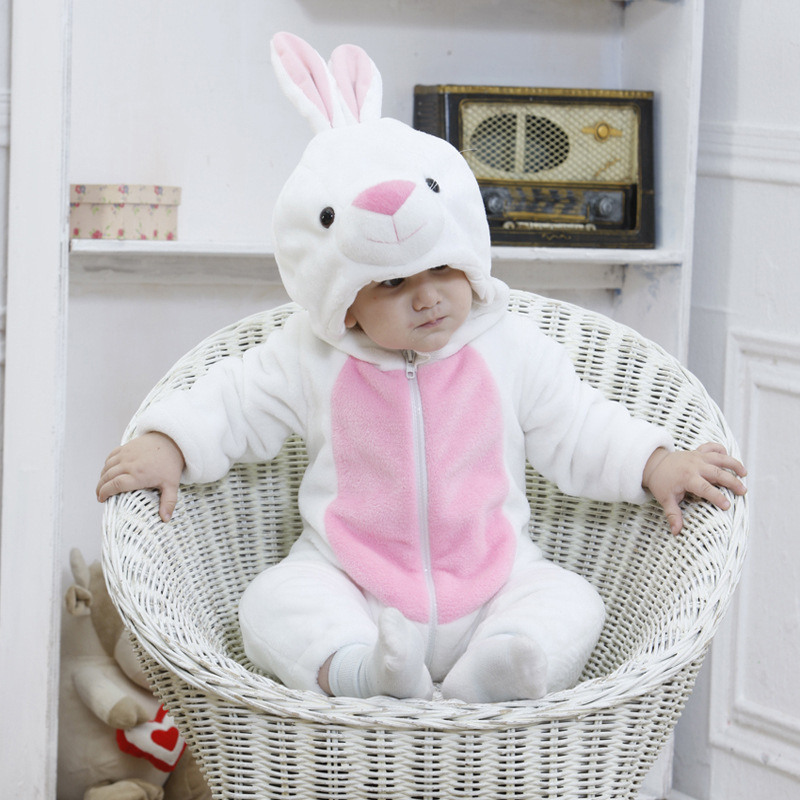 New 2 Spring Autumn Animal Cartoon Cosplay Hooded Baby Blanket Sleepers For 0-24 months Infant Flannel pijama pajamas Sleepwear<br>