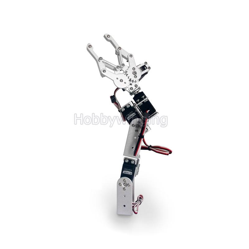 4DOF Car Mechanical Arm Manipulator Robot Claw Metal Structure Holder bracket Kits with Metal Servo Horn Arduino LD-1501MG Servo<br>