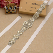 Buy MissRDress Rhinestones Wedding Belt Pearls Flower Bridal Belt Silver Crystal Jeweled Bridal Sash Wedding Prom Gown JK806 for $8.90 in AliExpress store
