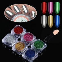 Mirror Powder Nails Colorful Nail Art Glitter Chrome Pigment Dust Powder Gold Silver for Nail Art Decoration UV Gel Polish DIY(China)