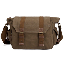 fashion Canvas Messenger Multi-purpose Camera  Bag Army Green