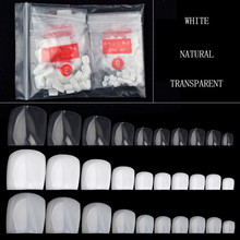 10 Size Full Cover False Toenails Toe Nail Tips 500 Pcs Fake Foot Artificial Nails Manicure Press on Fake Nails for Sale 2017(China)