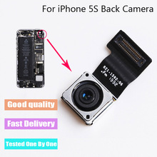 1Pcs x Top Quality Back Rear Camera For iPhone 5s Rear Camera Flex Cable with Focusing Replacement Parts