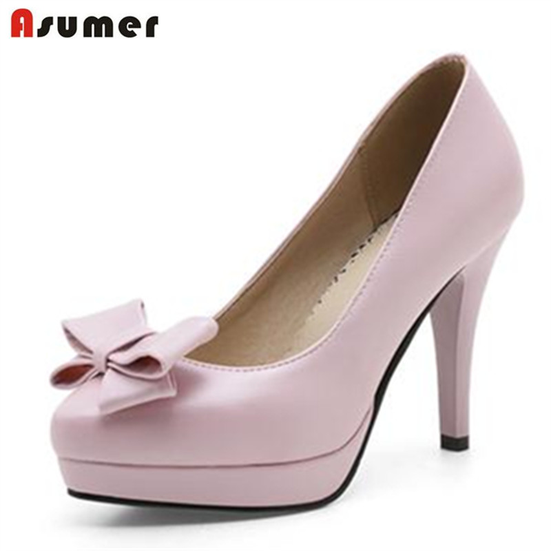 ASUMER 2017 Popular fashion shoes women shallow pointed toe single shoes high heels big size 33-43 wedding shoes pumps <br><br>Aliexpress