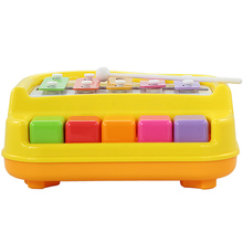 Educational Early Childhood Toy Joy Small Piano Toys Playing Knock 2 in 1 Wooden Toys