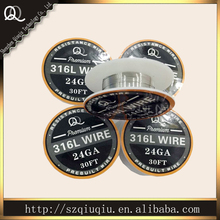 Origina QQ best quality Stainless Steel 316L Resistance Wire  size 24ga (10m/roll) for ecigarette RDA wire