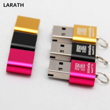 Random Color Car Electronics New High Speed Mini USB 2.0 Micro SD TF T-Flash Memory Card Reader Adapter R3 Vehicle Devices