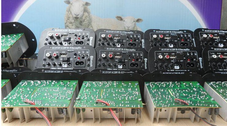 220 v12v24v three with subwoofer amplifier scooter speaker amplifiers mainboard electric motorcycle load host<br>